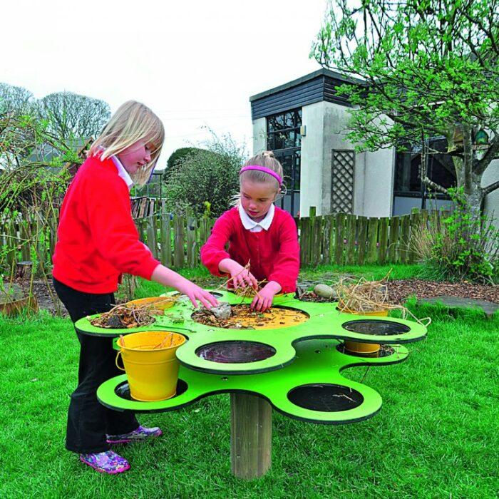 Table à fleurs jardin