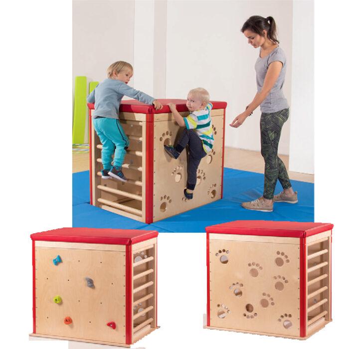 cube à grimper pour maternelle et crèche