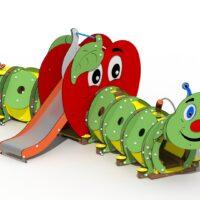 La Chenille longue & la Pomme
